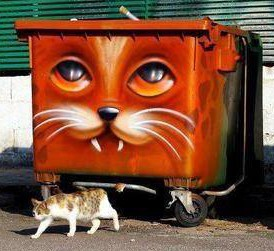 Public Art Cat Dumpsters – CPTED in Practice